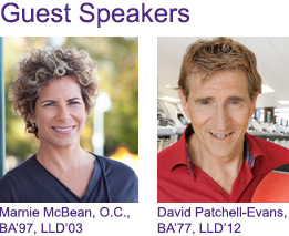 Marnie McBean and David Pathcehll-Evans will be guest speakers at this event