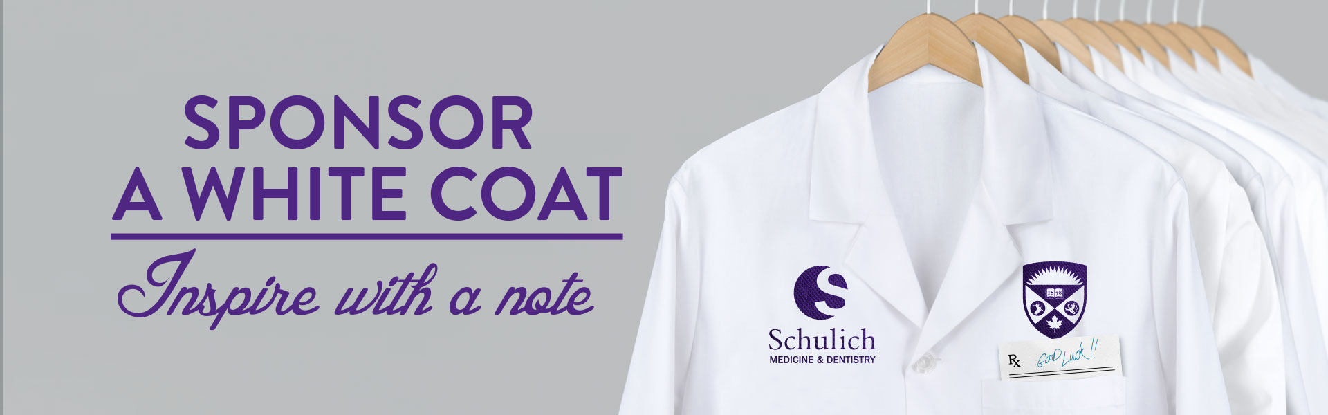Fund a coat, write a note Banner